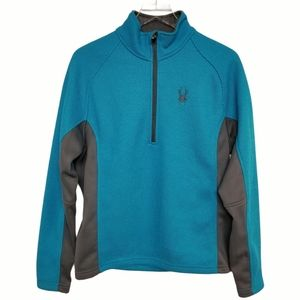 Spyder Blue and Grey Core Sweater 1/2 Zip S